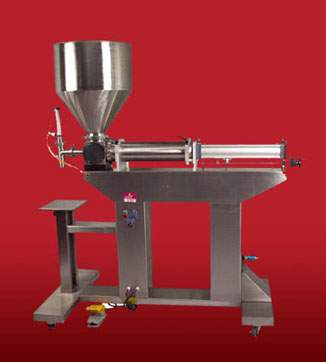 Rotary Valve Piston Filler with Hopper (Free Standing)