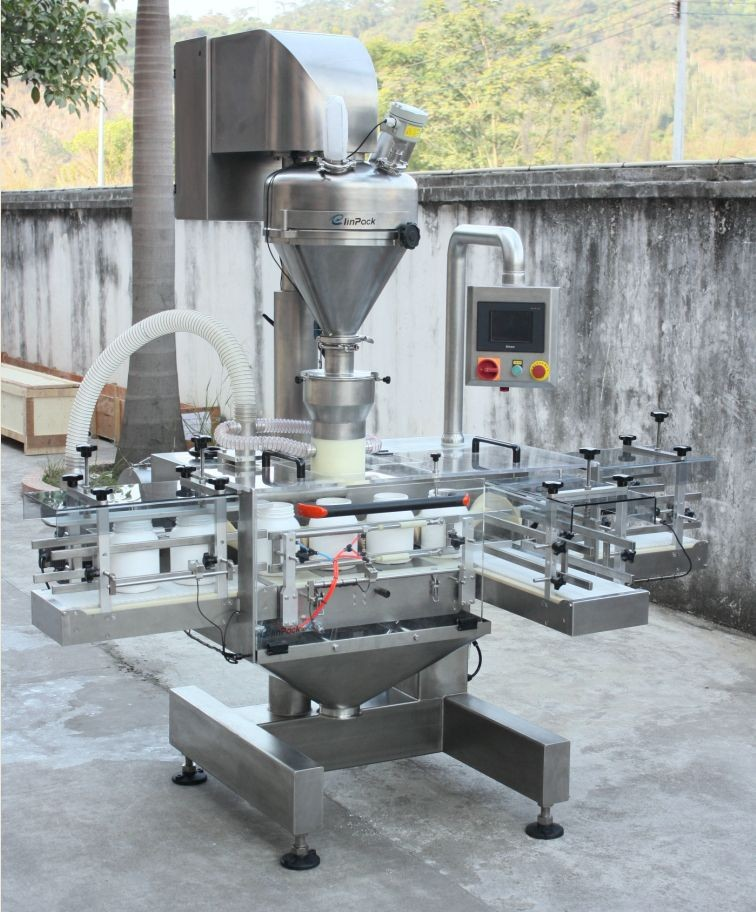 Servo Driven Auger Filler with Weight Feedback System