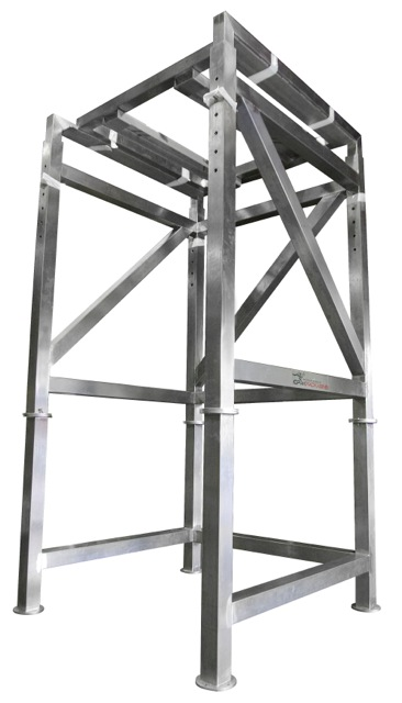 Stainless Steel Bulk Bag Stand with H-Frame for Forklift