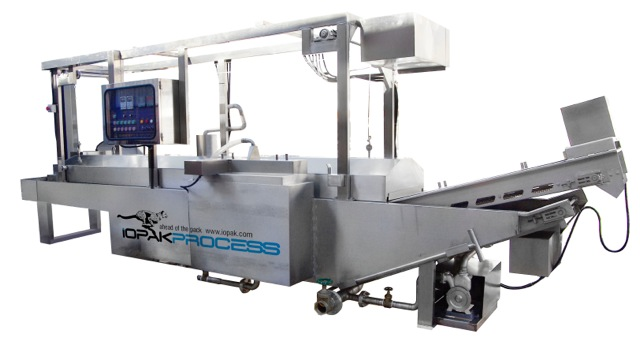 Fully Automatic Continuous Fryer with hold-down belt (Gas Fired)