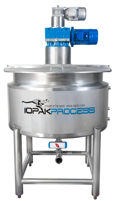 1000 Cooksys Cooking/Mixing Line (1000 L Cooker, In-Line Mill, Pump etc)IOPAK CRM 500 Contra-rotating cooker kettle (jacketed)