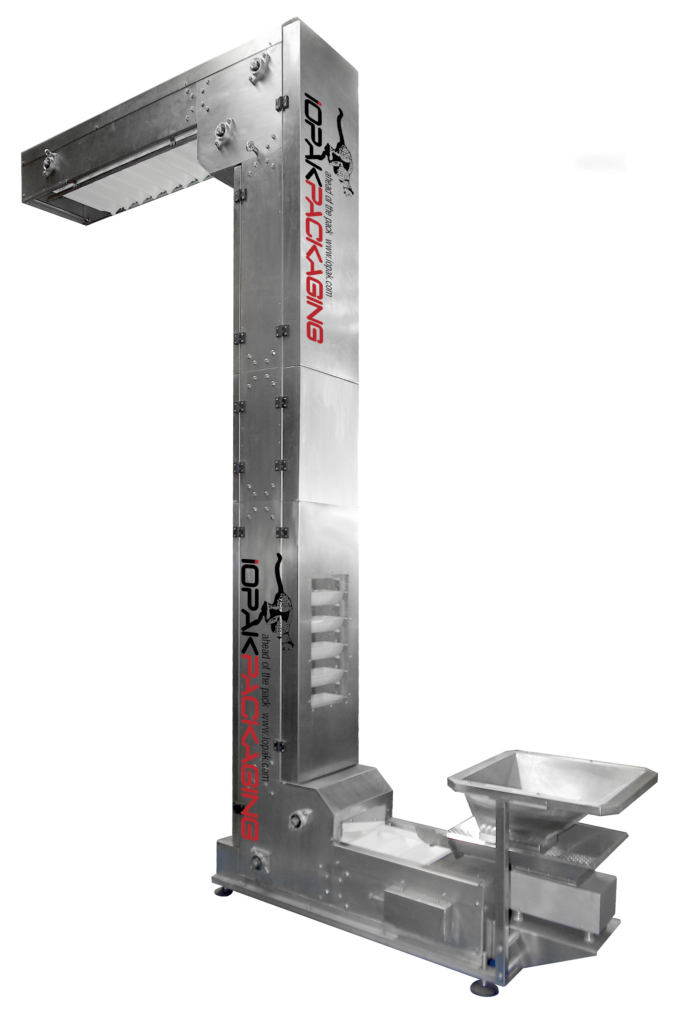 RT1200 Accumulating/Unscrambling Table (S/S)IOPAK Stainless Steel Bucket Elevator with Vibratory Feeder