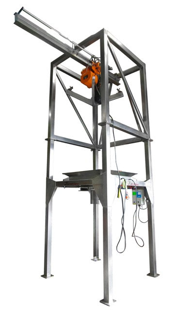 - IOPAK Stainless Steel Bulk Bag Unloader with Electric Hoist