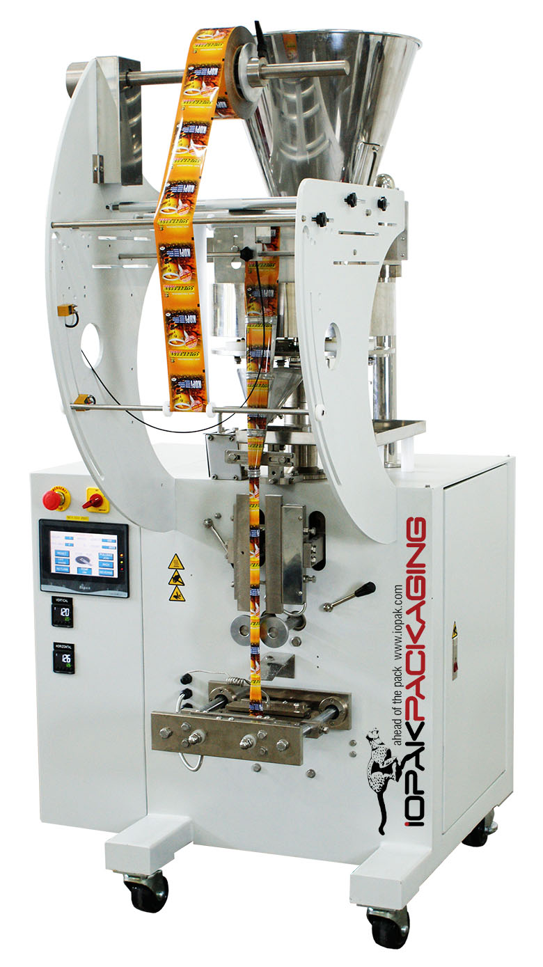 Sachet Packer with Volumetric Cup Filler