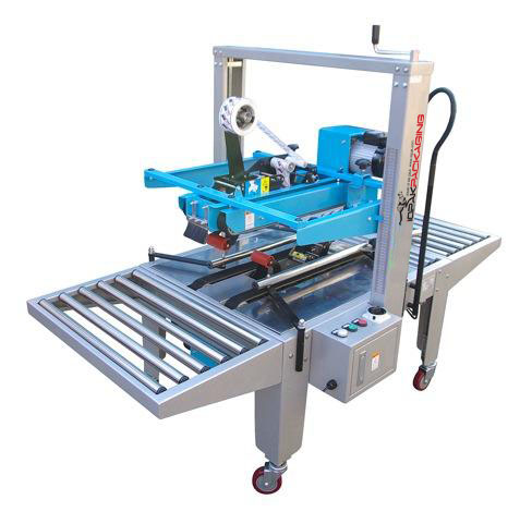 HF-390 Semi Automatic Horizontal Carton Closer GluerIOPAK Top and Bottom Drive Carton Taper. Model No.:TBD 6050 X