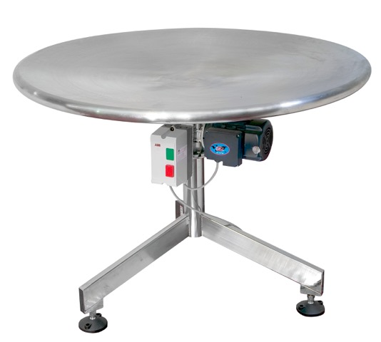 RT1200 Accumulating/Unscrambling Table (S/S) IOPAK S/S Rotary Turntable (1.2m Diameter)