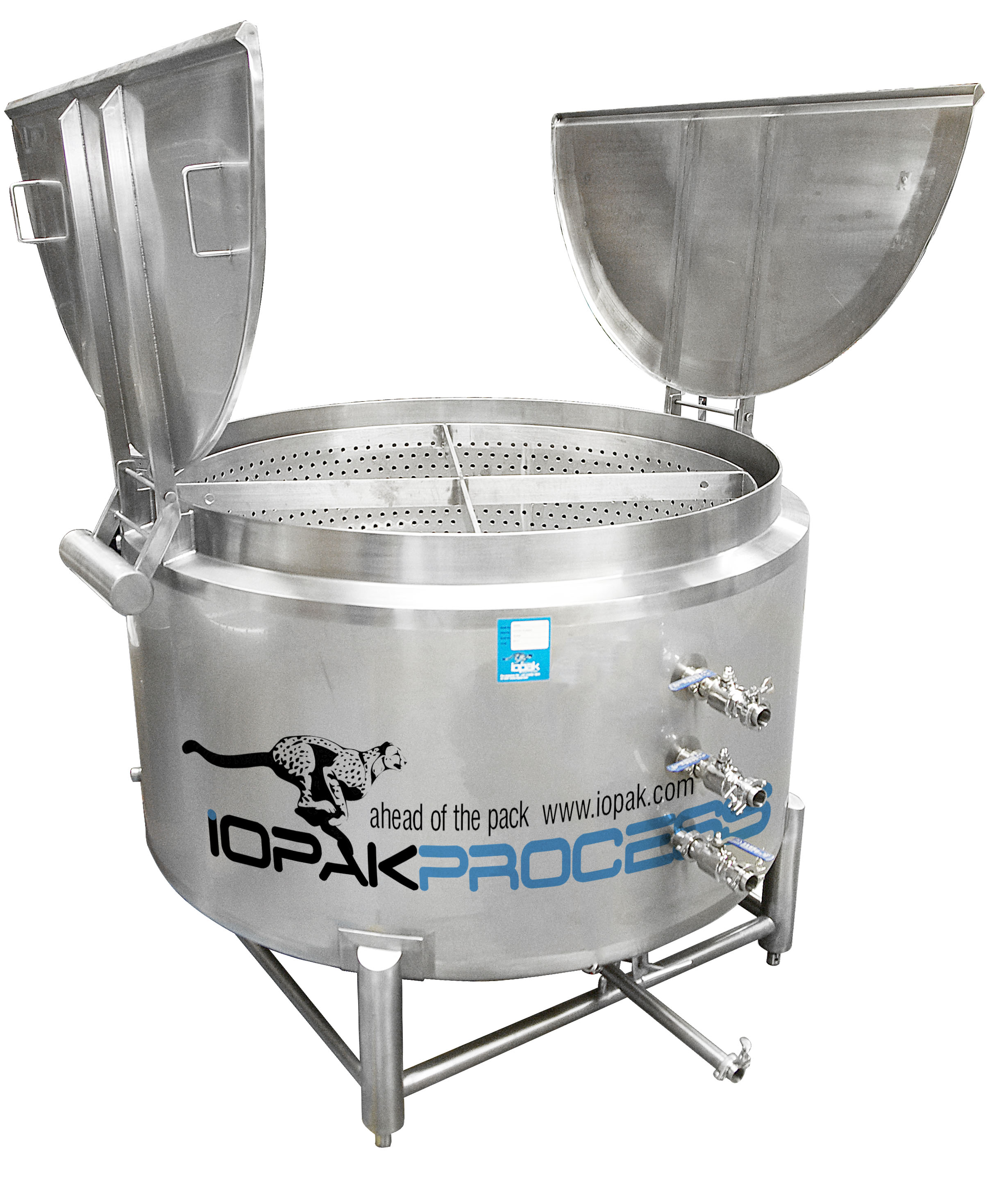 Cookers/Fryers - IOPAK Basket Batch 1000L Cooker. Cook! Quench! Chill!