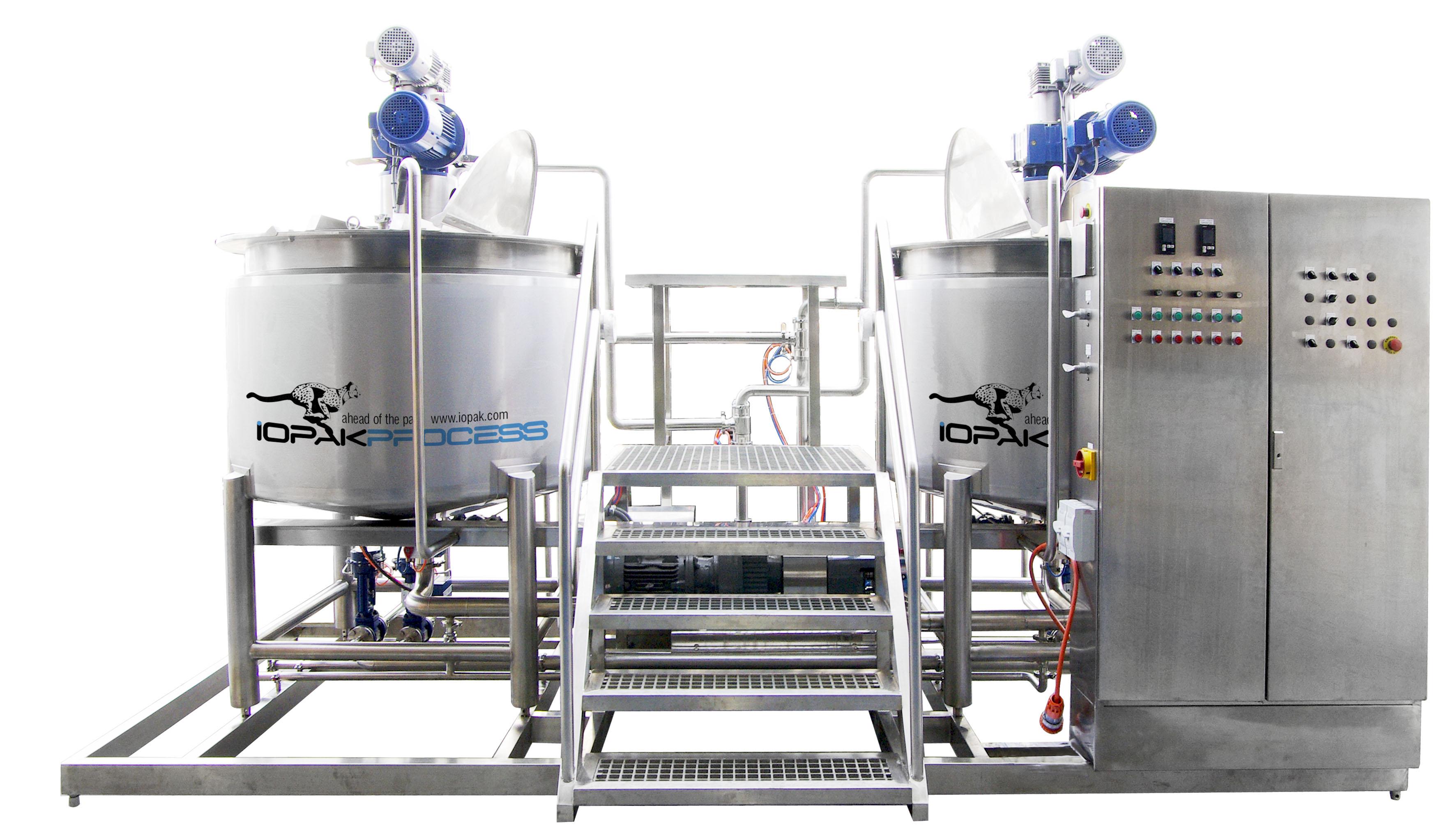 Cookers/Fryers - IOPAK Cooking/Mixing Line (1000 L Cooker, In-Line Mill, Pump etc)
