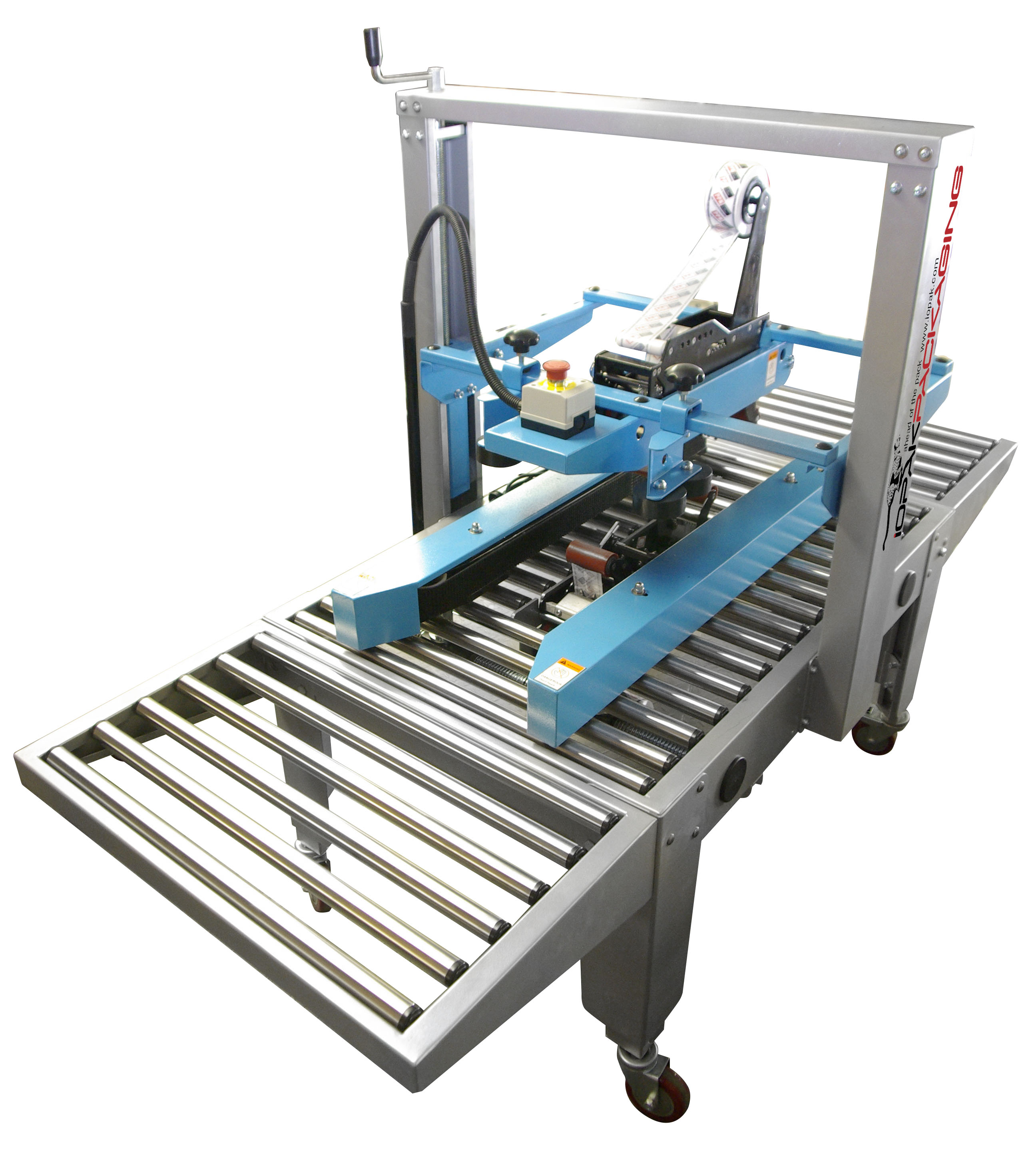 HF-390 Semi Automatic Horizontal Carton Closer GluerIOPAK Side Drive Carton Taper. Model No.:SD 5050 X