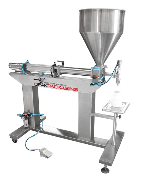 GCGA 1000 HR Rotary Valve Piston Filler with HopperIOPAK Rotary Valve Piston Filler with Hopper (Free Standing)